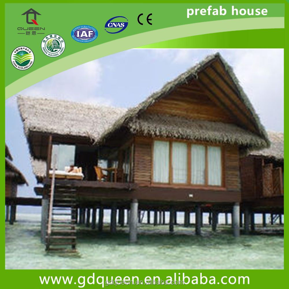 Overwater Prefab Tourist resort vacation house Bungalow