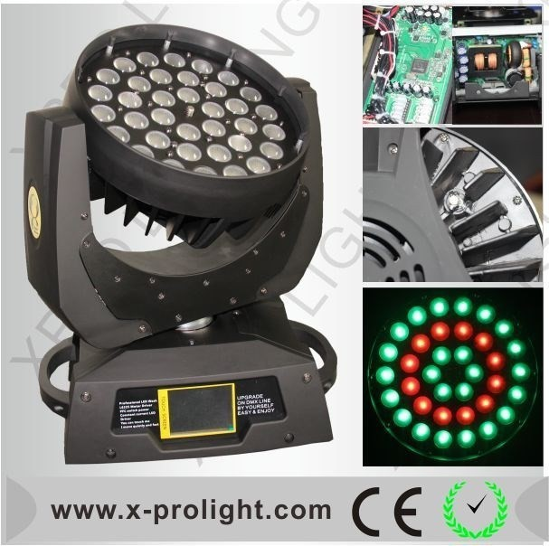 10w LED moving head lighting,High quality 4in1 led bulb,stage RGBW 36pcs 4in1 moving head wash