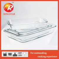 Non stick microwave glass deep baking tray/bakeware/baking plate