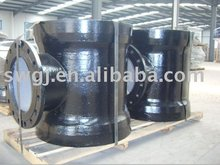 ductile iron pipe fitting socket-spigot tees with socket branch