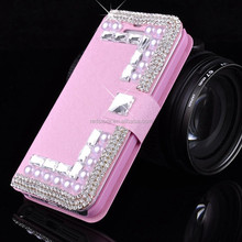 Luxurious Crystal Diamond Leather case for iphone 5