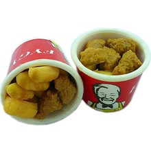 high quality 3D plastic fake food model for KFC