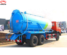 Dongfeng 12-16T high quality best leachate sewer vacuum sewage suction truck for sale