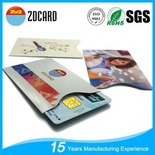 Custom Printed RFID Blocking credit card envelopes / RFID card sleeve