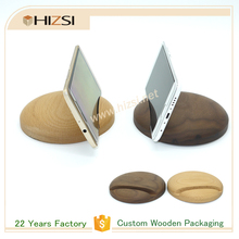 Solid Wood Different Shapes Custom Wooden Phone Holder with Logo