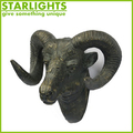 Wall mounted artificial deer ox head hanging home decoration