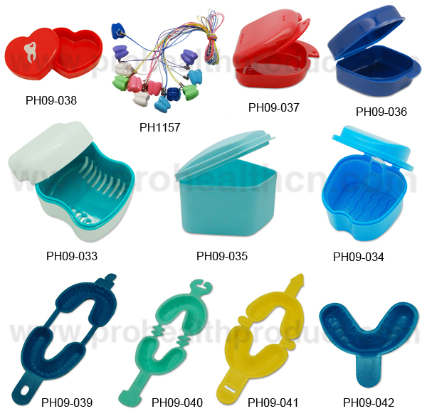 Medical Plastic Dental lab work pans with clip