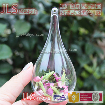 110MM Droplet shape Christmas ball for plastic container