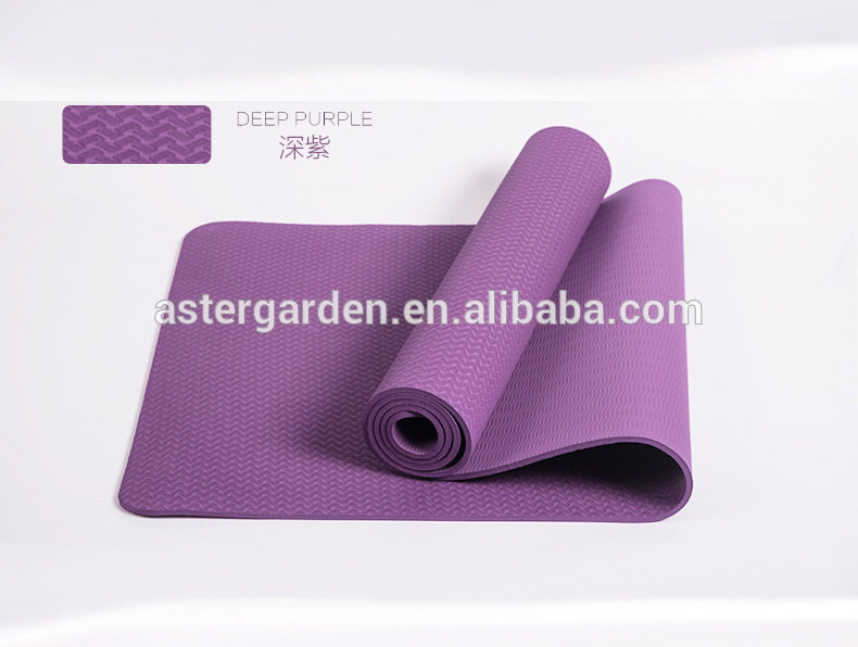 Fitness Training Eco-Friendly NBR Bordure Non-slip Yoga Mat