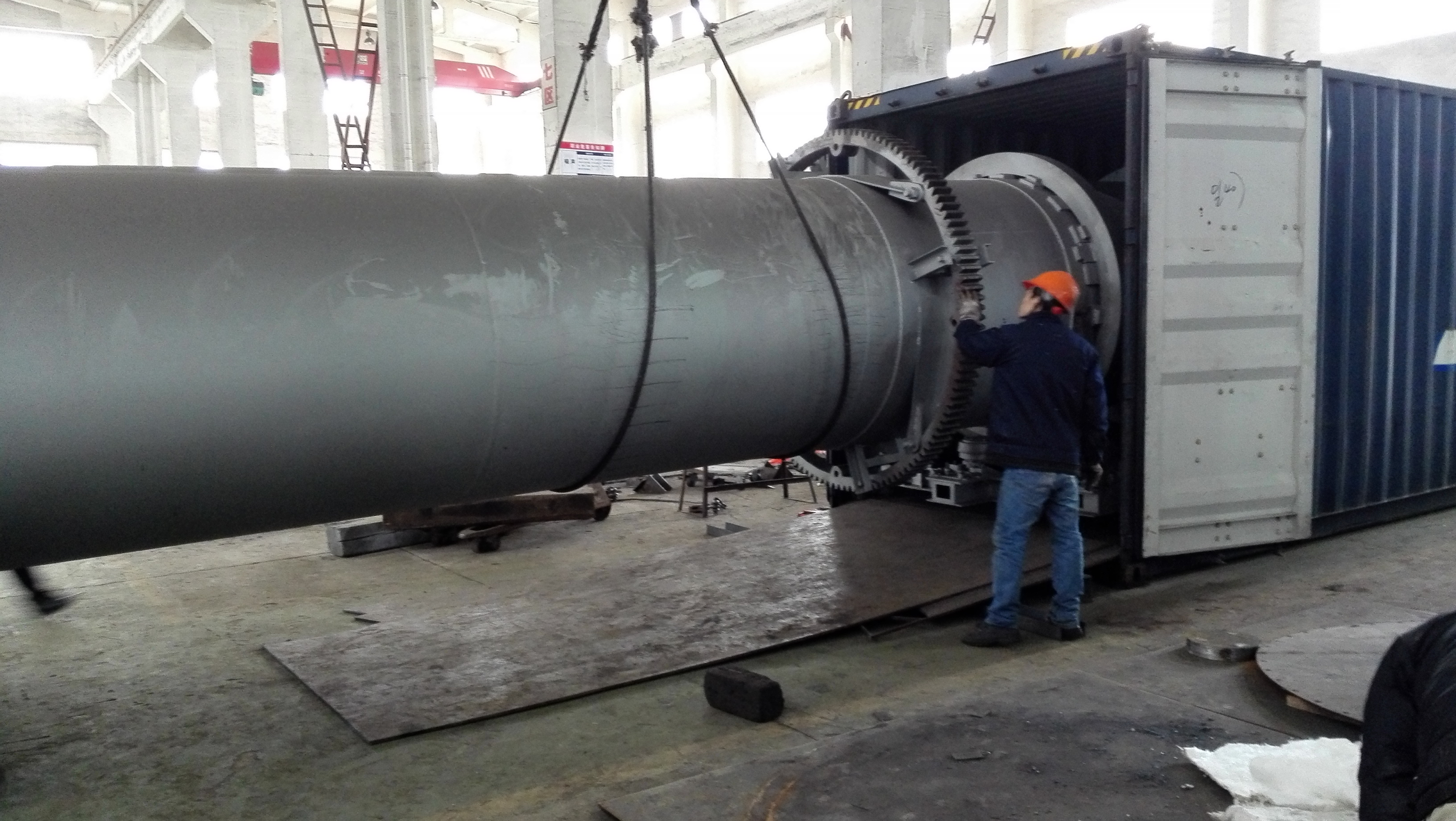 Made in China lime rotary kiln drying machine for xcmg spares parts