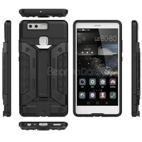 Kickstand card holder bumper huawei p9 case cover