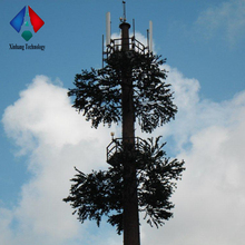 Communication Cell Phone Artificial Plant Galvanized Pine Tree Steel Tower