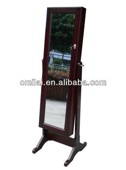 bedroom furniture standing mirror with jewelry storage