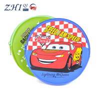 latest Donguan PU leather factory outlet BSCI cartoon design mini round Coin Purse