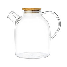 Glass Kettle 60 Ounce Stove Top Safe Heat Resistant Borosilicate Pitcher Carafe Teapot No Dripping