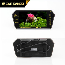 With MP5,Bluetooth 7 inch tft lcd car monitor rearview mirror for parking system