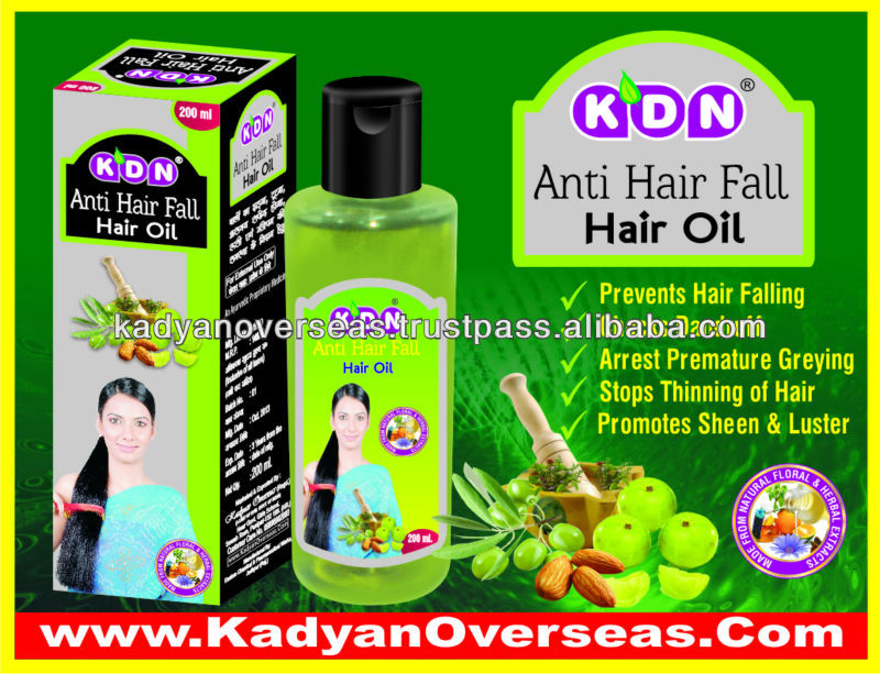 KDN Anti Hair Falling Oil with Private Labeling / Bulk Supply