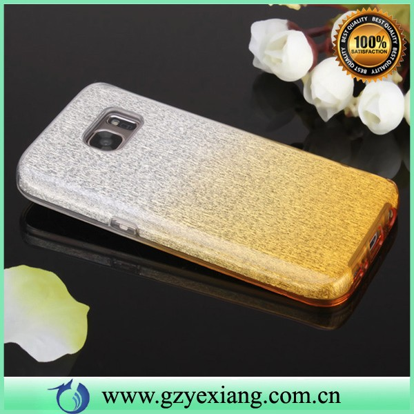 2016 new product for samsung galaxy s7 made in china case pc tpu glitter phone cover for samsung s7
