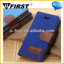 2013 newest Portable Jeans leather case for iphone 5