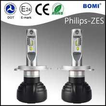 High-end LED headlight 6000LM 35watts H4 led headlight and LED headlight H4 with DOT e-mark