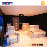 UV832A modern leather electric recliner sofa for cinema