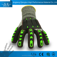 QL new style mens shock proof protective heavy duty rubber gloves