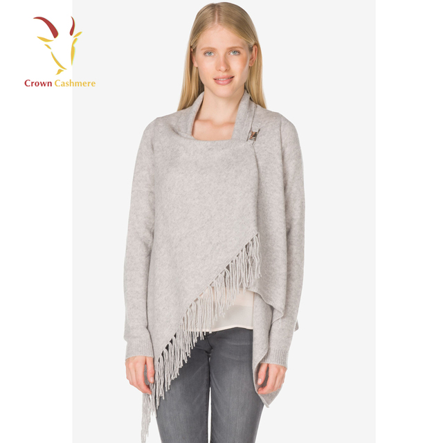 Fashion Women Winter Warm Knit Fringe Wool Merino Cardigan Sweater