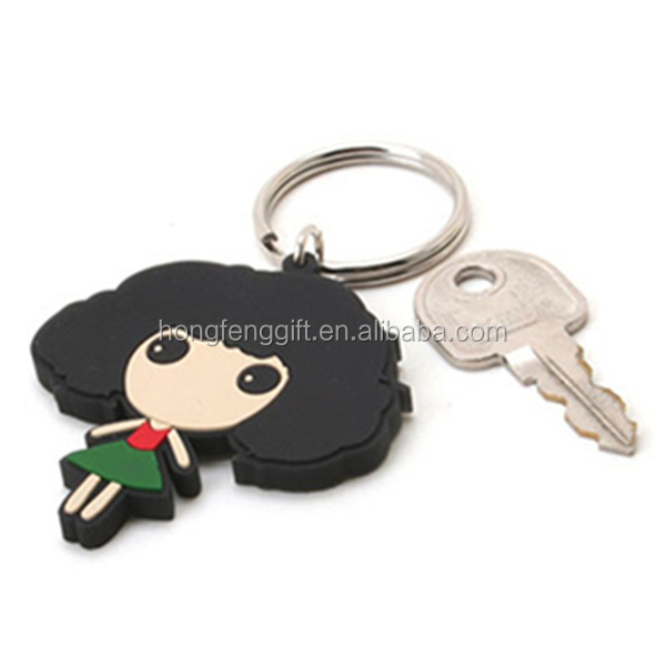 Promotional beautiful pvc keychain 3d