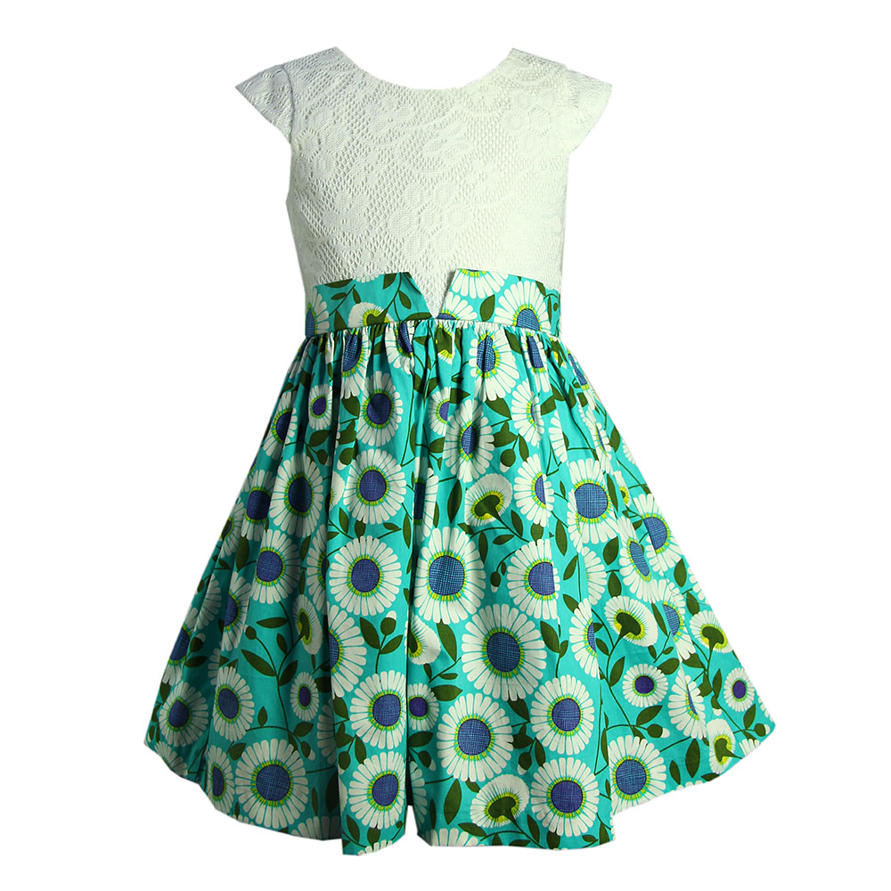girl party wear puffy dress for kids