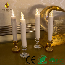 Electric Flameless LED taper candles, dancing flame LED wicks and sticks candles lamps for dinner table