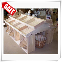 Professional wooden mdf display stand for bread unfinished display wine holder