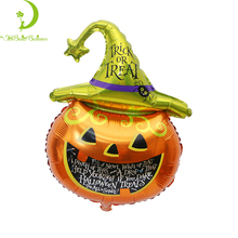Wholesale helium foil Halloween party balloon,pumpkin party toys balloons