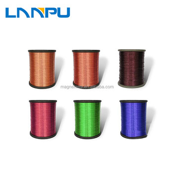 Class 130 155 180 200 220 0.14-4.0mm Enameled CCA Copper Coated Aluminum ECCA Wire for sale