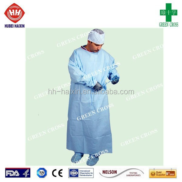SMS knitting cuff EO sterile disposable surgical gown
