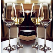 Beautifully Designed Long Stem Wine Glasses - Made from 100% Lead Free Premium Crystal Glass