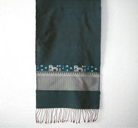 Laos Silk Scarf w/ Tassels - Multicolored