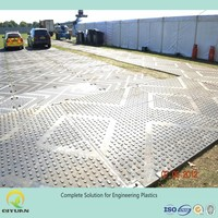 extruded HDPE dozer track floor protection mats hdpe plastic temporary roadways