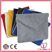 Familiar in oem odm factory cheap wholesale handmade hot sell felt laptop bag