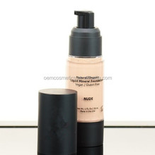 Natural Coverage Liquid Mineral Foundation Makeup - Organic Ingredients-Non-Irritating for Sensitive Skin (Nude)