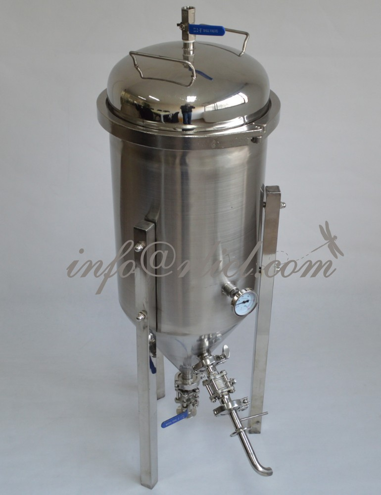 30L/7Gallon Stainless Conical Beer Fermenter with all accessories,Wooden Case Protected, Micro Brew, Homebrew