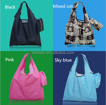 Wholesale Folding Shopping Bag Portable Shoulder Bag Folded Spot Handbag Totes