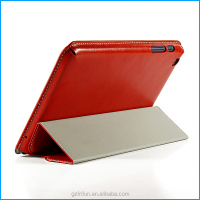 Leather flip stand case for lenovo A5500 8 inch-Red