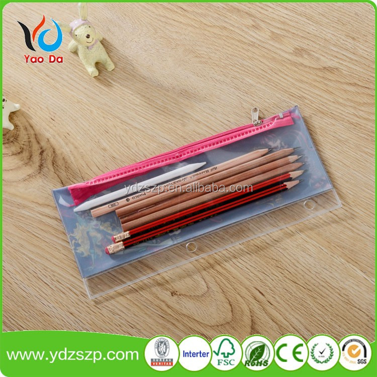 Promotion Custom Clear PVC Vinyl Plastic Zipper Pencil Bag