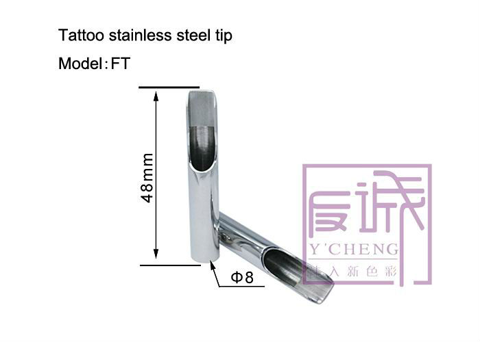 Professional Stainless Steel Tattoo Tips 8- Closed Flat