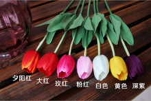 New high quality nature touch Decoration Artificial Tulip Flower Wholesale Cheap single Tulip Artificial Flower fabric flower