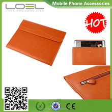 2016 new arrival !!! Fashional classical mini/ultra-thin envelope PU cover sleeve for ipad with 3 pockets