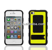 kickstand case for 4g, Hybrid Hard Silicone Rubber Case Cover for Apple iPhone 4 4S