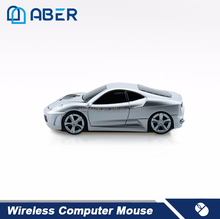 2.4Ghz Wireless 1600DPI Optical Racing Car Mouse with Custom Logo