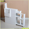 Wooden bedstand in white color