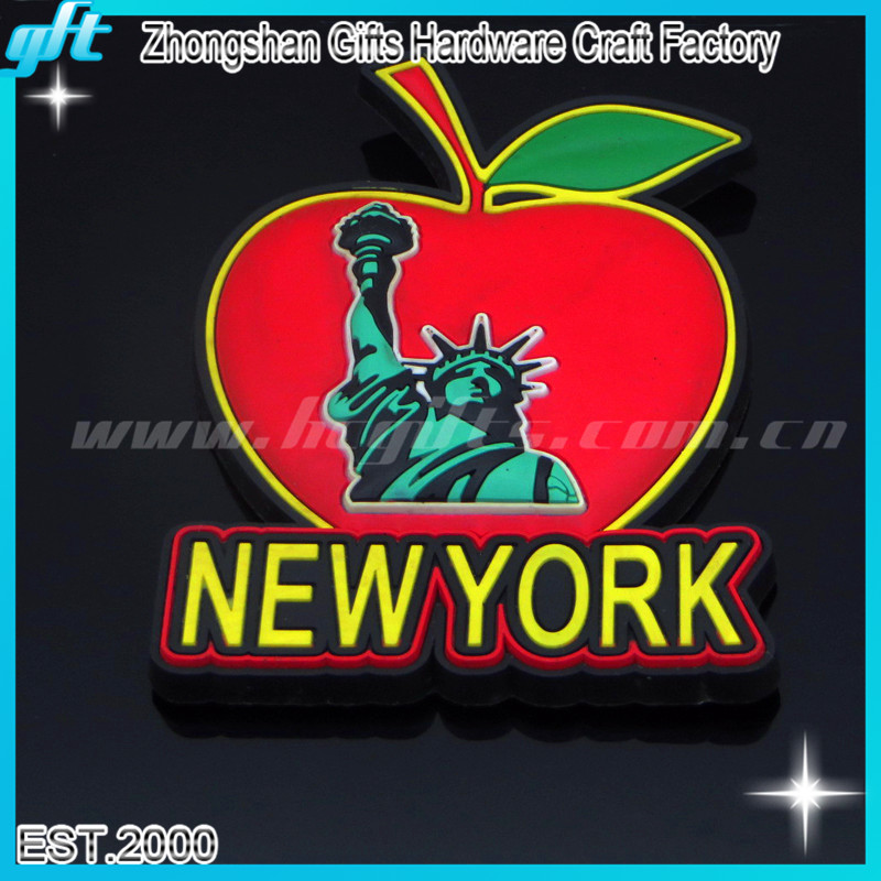 2D soft pvc keychain for New York / pvc rubber New York key chain/New York Rubber keyrings